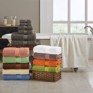 Plush Absorbent Long Staple Combed Cotton 6-Piece Towel Set