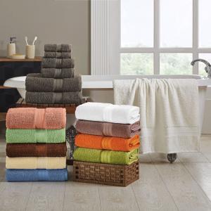 Plush Absorbent Long Staple Combed Cotton 6-Piece Towel Set