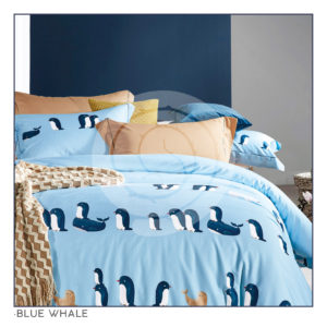 Ixora Deluxe Linen Collection- Blue Whale
