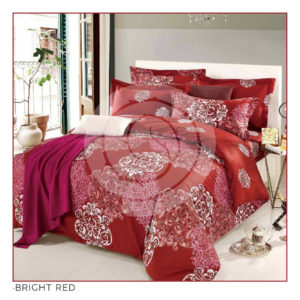 Ixora Deluxe Linen Collection- Bright Red