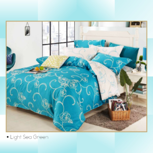 Ixora Deluxe Linen Collection- Light Sea Green