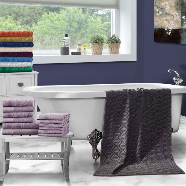 Honeycomb Jacquard 12 piece Towel Set
