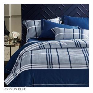 Ixora Deluxe Linen Duvet Cover Set- Cyprus Blue
