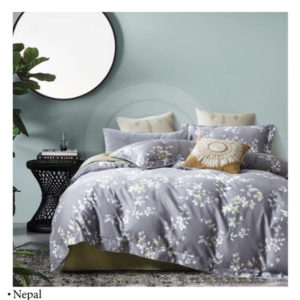 Ixora Deluxe Linen Pattern Collection – 7pc Duvet cover Queen set