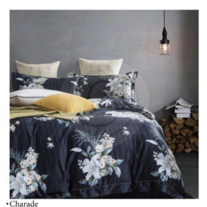 Ixora Deluxe Linen Pattern Collection – 6pc Duvet cover King set
