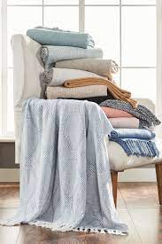 2pk 100% Cotton Throw Blanket